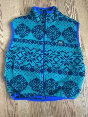 Molehill Mt. Equipment Boys Size 8 - 10 Blue Green Fleece Vest