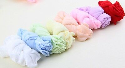 5 Pairs Candy Color Socks Newborn Baby Toddler Infant Cotton Blend Summer