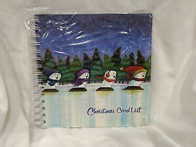 Christmas Card List S'More Snow Boarding 52 Page Address Book For The Holidays