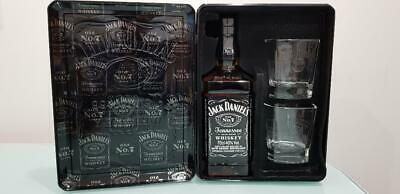Jack Daniel's old no 7 tennessee whisky & 2 glasses in a Tin Gift Box 700 ml