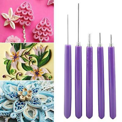 5x Multifunction Quilling Slotted Tools Paper Quilling Scrapbook Craft Set Kit
