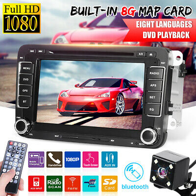 Autoradio 2 Din Navi Gps Dvd Mp5 Usb Sd FüR Vw Golf 5 Passat Touran Polo Tiguan