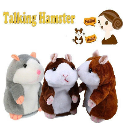 UK STOCK Cute Talking Nod Hamster Mouse Record Chat Mimicry Pet Plush Toy Gifts