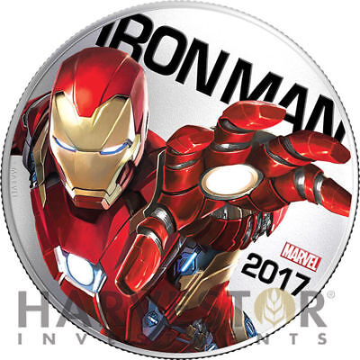 2017 Marvel Light-Up Coin Series - Iron Man - Fiji - First In Series - Ogp