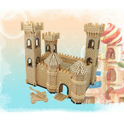 Dollhouse Miniature DIY Kit Castle Wood Toy Doll House Handcraft kids Toy Gift