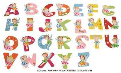 Wooden Fairy Alphabet Letters Girls Personalised Name Gift Decor Xmas Stocking