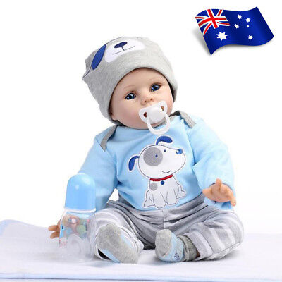 "22"" Newborn Doll Real Lifelike Silicone Reborn Baby Dolls Toddler Boy Xmas Gift"