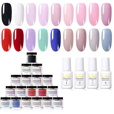 22pcs Set BORN PRETTY 10ml 3 IN 1 Dipping Acrylic Nail Art Powder Pigment&Liquid