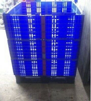 50 x Plastic Pallet Collars 1200 x 1000mm - Heavy Duty Collapsible Folding