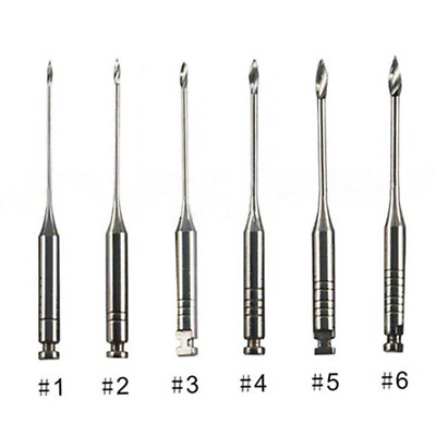 6 Pcs Dental Endodontics Peeso Reamers Gates Drill Stainless 32mm 1#-6# 28/32mm