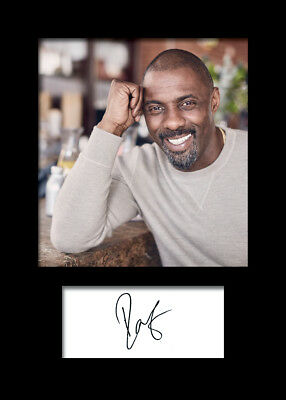 IDRIS ELBA #3 A5 Signed Mounted Photo Print - FREE DELIVERY
