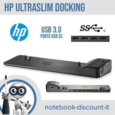 HP UltraSlim Docking Station USB 3.0 Elitebook Folio ZBOOK HSTNN-IX10