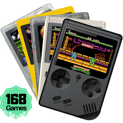 "2019 Handheld Game Console 3.0"" Retro FC TV Game 168 Games Portable Game Players"