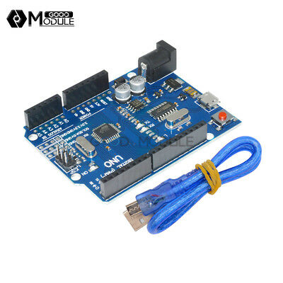 Latest Version ATMEGA328P-16AU CH340G Arduino UNO R3 With Micro USB Cable