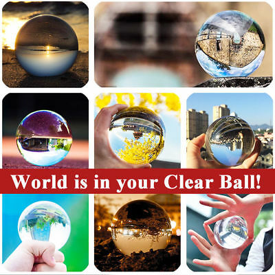 100mm K9 Glass Clear Crystal Ball Photography Lens Photo Prop Background Sphere
