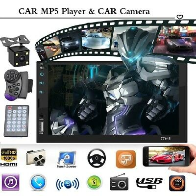 7inch Car Stereo Mp5 Player Touch Screen Bluetooth Radio 2din HD Rear Camera US