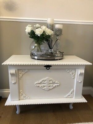 Bespoke hand made solid wood chest hand painted in Farrow and Balls Pointing