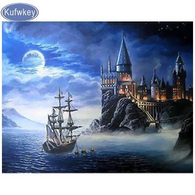 """5D diamond painting Full Square mosaic embroidery """"Harry Potter Castle"""""""