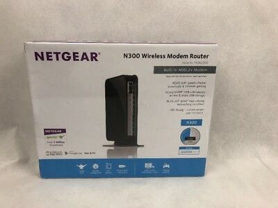 NETGEAR N300 Wireless Modem Router DGN2200 ADSL2+ Modem Wifi NBN Ready