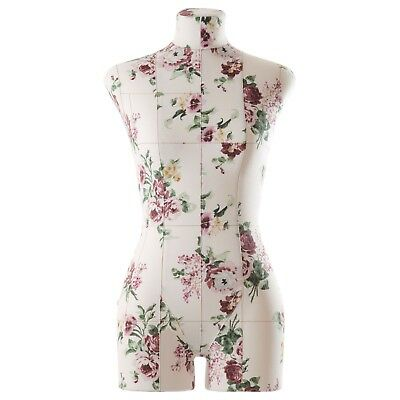 Eva Female Fully Pinnable Sewing Dress Form Soft Tailor Mannequin Floral XXS-3XL