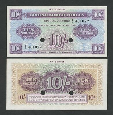 BRITISH ARMED FORCES  10 sh  1962  4th Series  M35b  Uncirculated  Banknotes