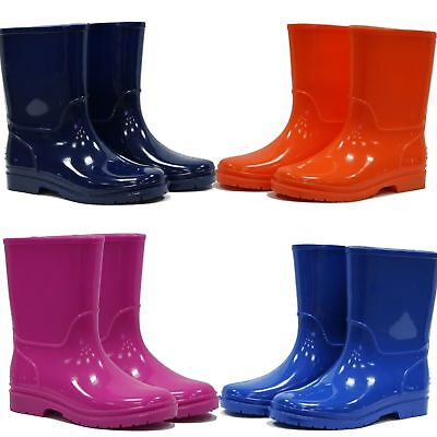 Kids Boys Girls Wellies Wellington Boots Rainy Boots Snow Winter Boots Sz 11- 2