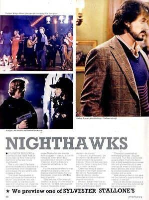 Sylvester Stallone And Lindsay Wagner In Nighthawks Article & Picture(S)