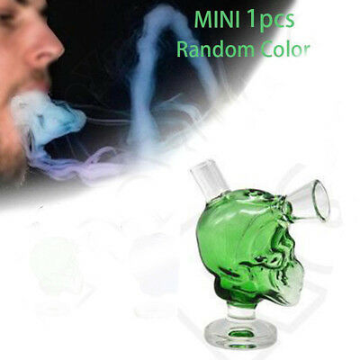 Skull Glass Bongs Hookah Water Smoking Tobacco Pipe Filter Bubbler Shisha Beaker