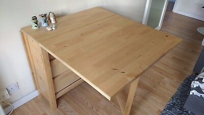 Ikea Extendable Folding Dining Table With 6 Drawers Norden
