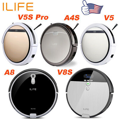 ILIFE V5 A4S A8 V8S Robotic Vacuum Cleaner Cordless Automatic Sweeping Cleaning