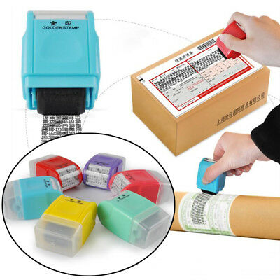 Self Inking Privacy ID Protect Security Stamp Erase Roller Hide Identity