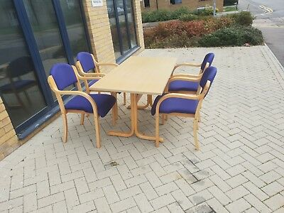 Maple meeting table and 4 chairs #281