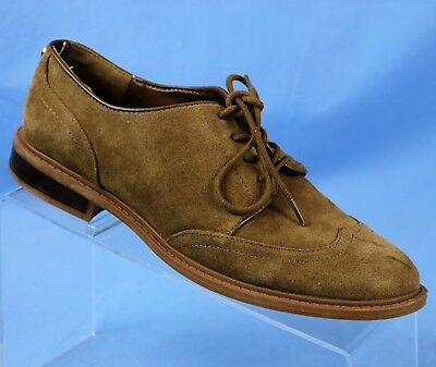 4b50d3947be8 TOMMY HILFIGER Jaynnie Brown Suede Leather Wingtip Oxford Womens Size 7.5 M