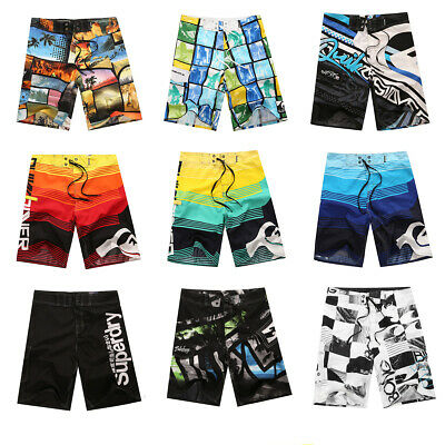 Mens Surf Beach Shorts Boardshorts Swimming Beach Quick Dry Swimwear AU 30-36