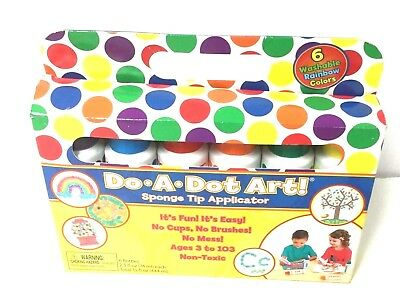 DO A DOT Art! Markers 6-Pack Rainbow Washable Paint Markers, Original Dot  Marker