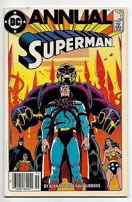 Superman Annual #11 (1985 Dc) Fn- (6.5) First Black Mercy! Mongul! Alan Moore!