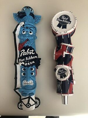 Pabst PBR Artist Series Tap Handles. Totem Pole And Drums