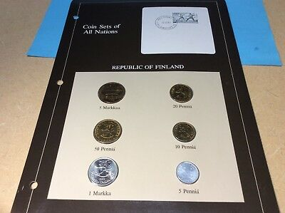 Coin Sets of all Nations Republc of 🇫🇮 Finland BU in Sleeve with Specification