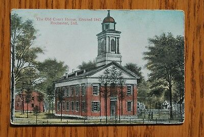 The Old Courthouse Erected 1847 Rochester Indiana IN unposted  Card Color