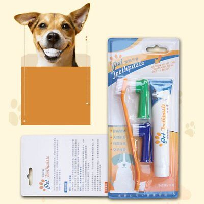 Pet Toothpaste Set Pet Dog Oral Care Cats Dogs Toothbrush Pet Supplies SG