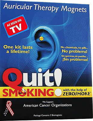 ORIGINAL Quit / Stop Smoking with ZEROSMOKE Auricular Therapy HEALTH ear MAGNETS