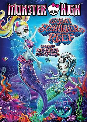 Monster High: Great Scarrier Reef (Bilingual)  [DVD] New and Factory Sealed!!