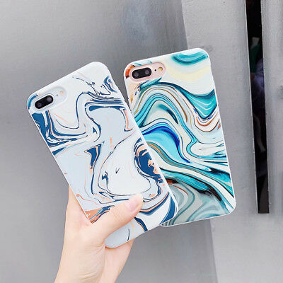Hot Creative Marble texture Phone Case Cover For iPhone X XS Max XR 6 7 8 Plus