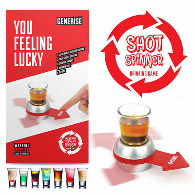 🔥 Spin the Shot Adult Drinking Game Stag Do Hen Night Party Novelty Party Glass
