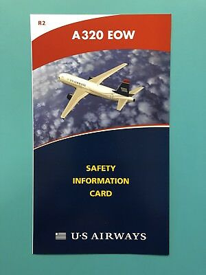 Us Airways Safety Card--Airbus 320Eow