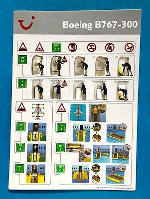 Tui Airlines Safety Card--767-300