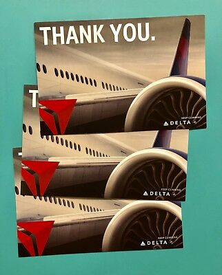 3 Delta Airlines Thank You Postcards
