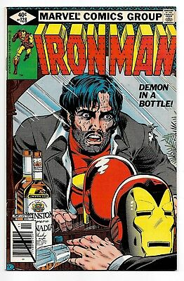 """IRON MAN #128 (11/79 Marvel) NM- (9.2) """"DEMON IN A BOTTLE!"""" ALCOHOLISM COVER!"""