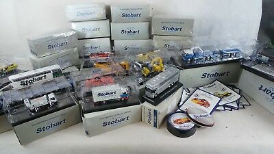 Eddie Stobart Collection , 1:76 Scale Atlas Editions - 25 Vehicles + Coasters
