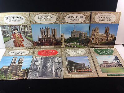 Vintage 1960'S Lot Of 8 Assorted Pitkins Pictorial England Travel Guides